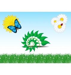 Green Set vector image