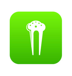 Hair fix clip icon green vector