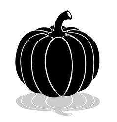 Halloween pumpkin silhouette isolated on white vector