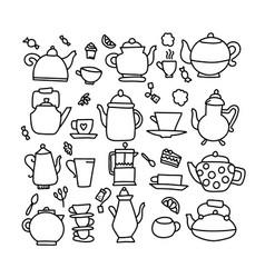 hand drawn doodle tea vector image
