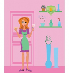 Housewife vector