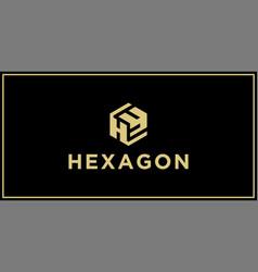 hy hexagon logo design inspiration vector image