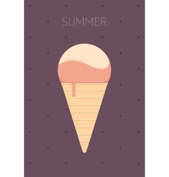 Ice Cream Flat Design vector