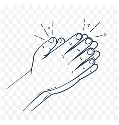 icon hands in prayer linear style vector image