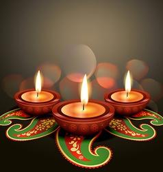 Indian festival diwali vector