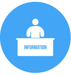 Information desk vector