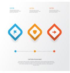 interface icons set collection of ahead target vector image