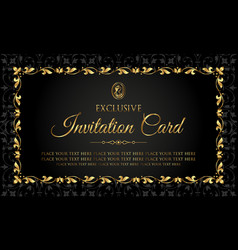 invitation card - luxury vintage design vector image