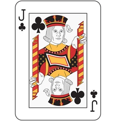 Jack of Clubs vector image
