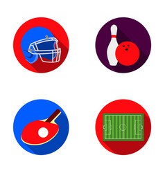 Keglie and bowling ball protective helmet for vector