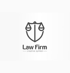 law firm creative symbol concept lawyer office vector image