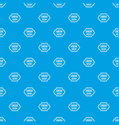 Limited edition pattern seamless blue vector