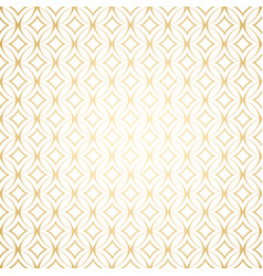 linear gold art deco simple seamless pattern vector image