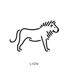 lion outline logo silhouette minimalistic vector image