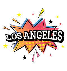 Los angeles comic text in pop art style vector