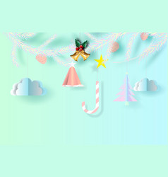 merry christmas background of bright candy chewy vector image