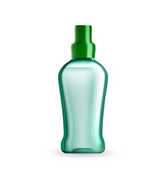 Mouthwash hygienic liquid blank bottle vector