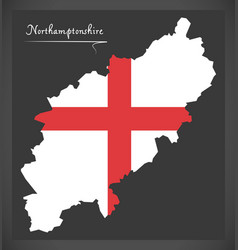 Northamptonshire map england uk with english vector