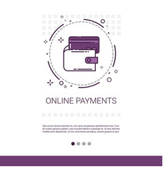 online payment credit card service mobile vector image