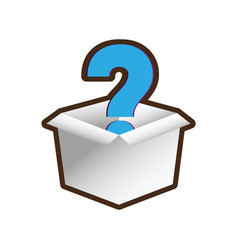 Open box question mark image vector