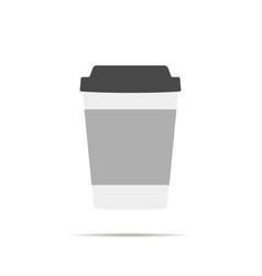 Paper cup icon vector
