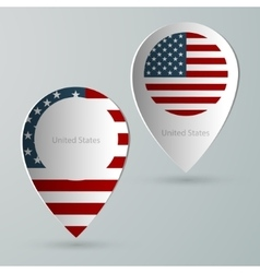 paper of map marker for maps united states vector image