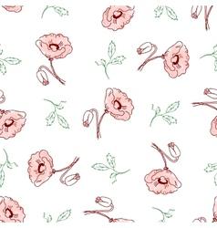 pattern of beautiful poppy flowers vector image