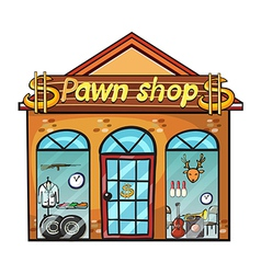 Pawnshop on a white background vector image