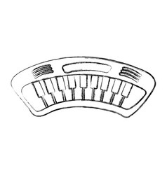 Piano music instrument icon vector