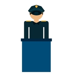 Police law isolated icon vector