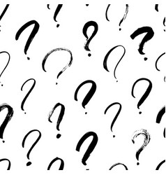 question marks seamless pattern vector image