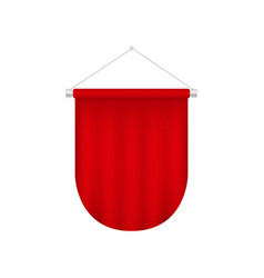 realistic pennant template red blank flag vector image