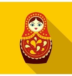 Russian matryoshka icon flat style vector