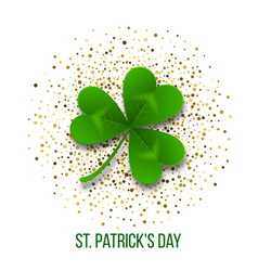 saint patrick s day border with green four vector image