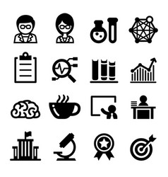 Scientist icon set vector
