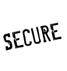 Secure stamp rubber grunge vector