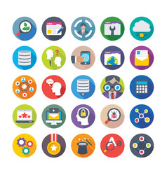 Seo and digital marketing icons 14 vector