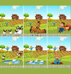 set farmland scene vector image