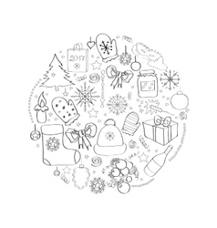 Set of Christmas symbols and vector image