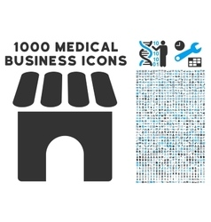 Shop icon with 1000 medical business pictograms vector