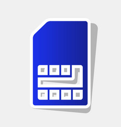 sim card sign new year bluish icon with vector image