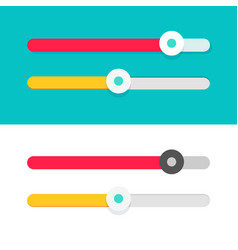 slider ui element design set flat cartoon vector image