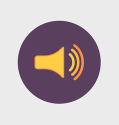 speaker icon volume max vector image