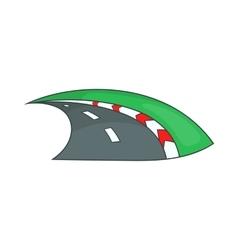 Speedway icon cartoon style vector