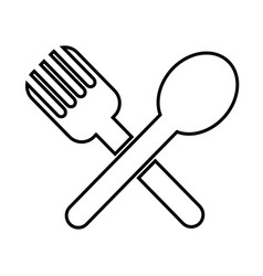spoon fork icon vector image