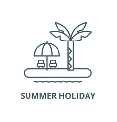 summer holiday line icon linear concept vector image
