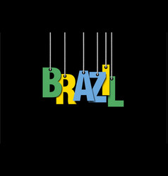 The word brazil hang on the ropes vector