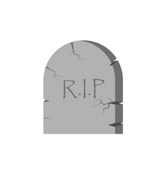 Tombstone cartoon with the inscription rip icon vector