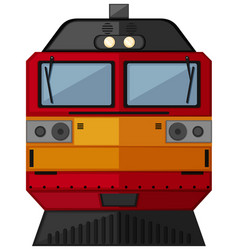 Train design in red and yellow color vector