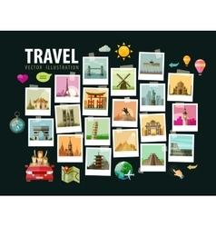 Travel vacation logo design template vector